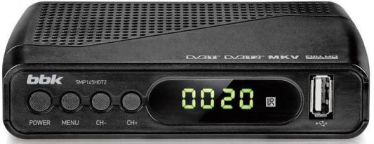 Тюнер цифровой DVB-T2 BBK SMP145HDT2 серый тюнер цифровой dvb t2 rolsen rdb 507nr красный