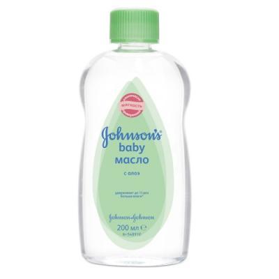 Johnsons baby Масло с Алоэ 200мл johnsons baby мыло с экстрактом натурального молочка 100г