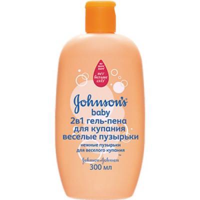 Johnsons baby Гель-пена для купания 2в1 Веселые пузырьки 300мл johnsons baby мыло с экстрактом натурального молочка 100г