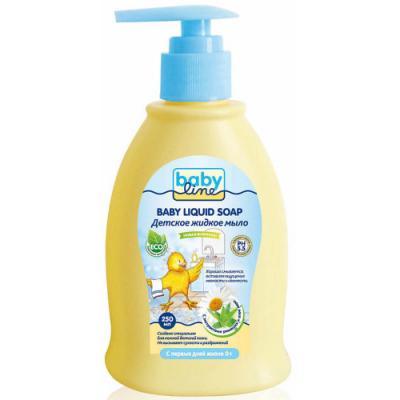 BABYLINE Детское жидкое мыло с дозатором 250мл babyline детское жидкое мыло 500 мл с дозатором babyline