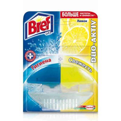 BREF Дуо-Актив Блок туалетный жидкий Лимон 50мл оригинал bref duo aktiv океан