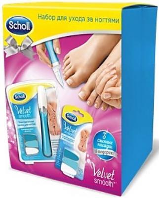 Scholl Новогодний подарочный набор Электрическая пилка для ногтей Сменные насадки scholl wet