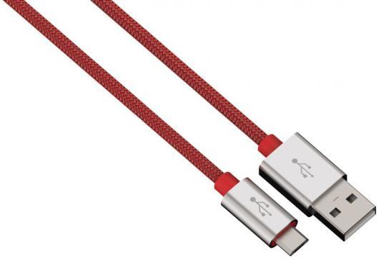 Кабель microUSB 1м HAMA Color Line круглый красный 00080512 кабель microusb 1м konoos круглый kc musb3ng