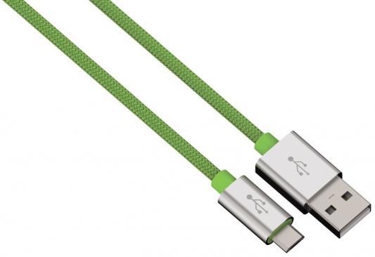 Фото Кабель microUSB 1м HAMA Color Line круглый зеленый 00080514 кабель 30 pin 1м hama h 173642 круглый