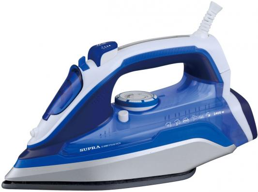 Утюг Supra IS-2405 2400Вт синий белый утюг supra is 2602c 2600вт бело синий