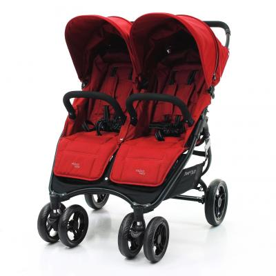 Купить Прогулочная коляска для двоих детей Valco Baby Snap Duo (fire red), красный, Коляски для двоих детей