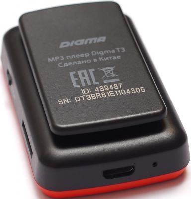Плеер Digma T3 8Gb черный/красный от 123.ru