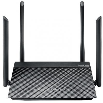 Беспроводной маршрутизатор ASUS RT-AC1200 802.11abgnac 1167Mbps 2.4 ГГц 5 ГГц 4xLAN USB черный беспроводной маршрутизатор zyxel keenetic extra ii 802 11aс 1167mbps 2 4 ггц 5 ггц 4xlan usb белый черный