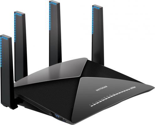 Беспроводной маршрутизатор NetGear R9000-100EUS 802.11ad 7133Mbps 2.4 ГГц 5 ГГц 6xLAN черный netgear fs728tp 100eus