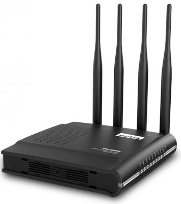 Беспроводной маршрутизатор Netis WF2880 802.11abgnac 1167Mbps 2.4 ГГц 5 ГГц 4xLAN USB черный цены онлайн