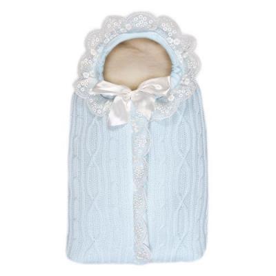 Конверт с 1 молнией Сонный Гномик Зимняя Радость (голубой) конверт на выписку сонный гномик зимняя радость цвет голубой 1704 1 размер 74