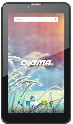 Планшет Digma Plane 7547S 3G SC7731 (1.2) 4C/RAM1Gb/ROM16Gb 7 IPS 1024x600/3G/Android 7.0/черный/2Mpix/0.3Mpix/BT/GPS/WiFi/Touch/microSD 64Gb/minUSB/2800mAh планшет lenovo tab 4 tb 7504x mt8735b 1 3 4c ram2gb rom16gb 7 ips 1280x720 3g 4g android 7 0 белы