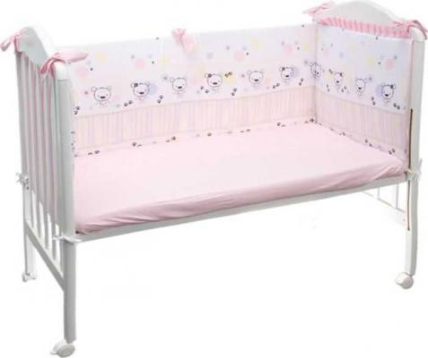 Бампер в кроватку Сонный Гномик Конфетти (розовый) комплекты в кроватку сонный гномик каникулы 7 предметов