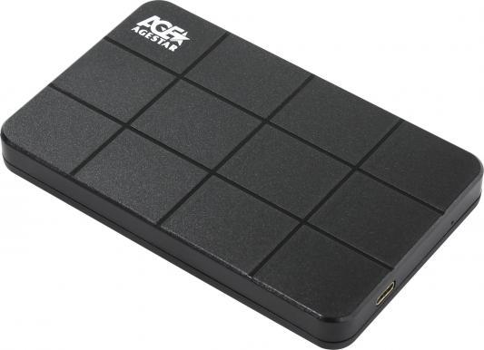 Внешний контейнер для HDD 2.5 SATA AgeStar 3UB2P1C USB3.0 черный внешний контейнер для hdd 2 5 sata agestar 31ubcp3 usb3 1 пластик белый