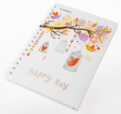 Тетрадь общая Silwerhof Счастливый день 120 листов клетка гребень 812008-95 цена