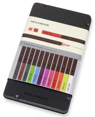 Набор цветных карандашей Moleskine EW7P12COLA 12 шт акварельные набор цветных карандашей maped color peps 12 шт 683212 в тубусе подставке
