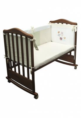 Бампер в кроватку Сонный Гномик Пикник (молочный) борт в кроватку сонный гномик считалочка бежевый бсс 0358105 4