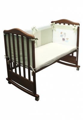 Бампер в кроватку Сонный Гномик Пикник (фисташковый) бампер в кроватку сонный гномик считалочка салатовый