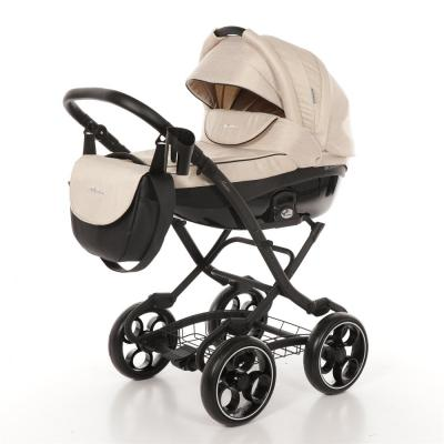 Коляска 2-в-1 Mr Sandman Maestro (50% эко-кожа/бежевый/19) коляска mr sandman voyage premium люлька 50пр кожа бежевый перфорированный коричневый в принт kmsvp50 0699ch15