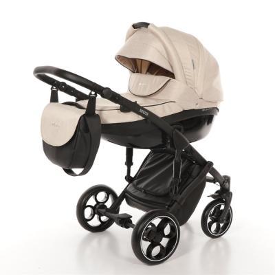 Коляска 2-в-1 Mr Sandman Mod (50% эко-кожа/бежевый/19) коляска mr sandman voyage premium люлька 50пр кожа бежевый перфорированный коричневый в принт kmsvp50 0699ch15