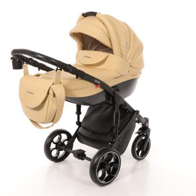 Коляска 2-в-1 Mr Sandman Mod (100% эко-кожа/бежевый/2) коляска mr sandman voyage premium люлька 50пр кожа бежевый перфорированный коричневый в принт kmsvp50 0699ch15