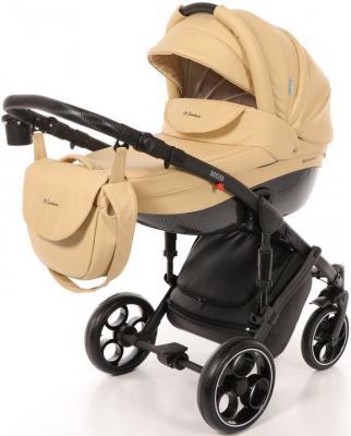 Коляска 3-в-1 Mr Sandman Mod (100% эко-кожа/бежевый/2) коляска mr sandman voyage premium люлька 50пр кожа бежевый перфорированный коричневый в принт kmsvp50 0699ch15