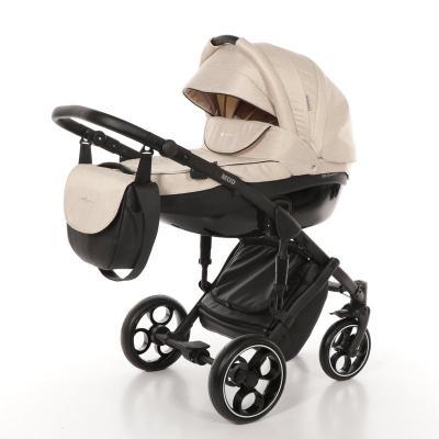 Коляска 3-в-1 Mr Sandman Mod (50% эко-кожа/бежевый/19) коляска mr sandman voyage premium люлька 50пр кожа бежевый перфорированный коричневый в принт kmsvp50 0699ch15