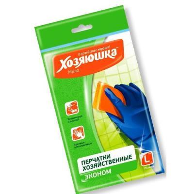 ХОЗЯЮШКА Мила Перчатки латексные ЭКОНОМ размер L