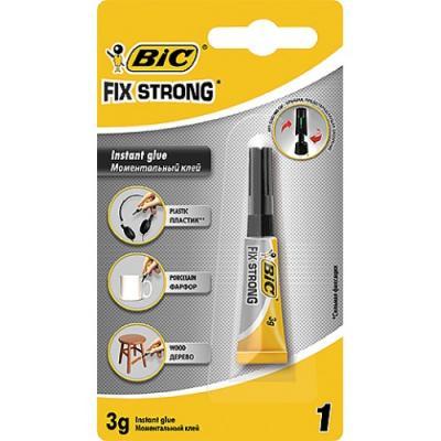 BIC Универсальный супер-клей Fix Strong 3г клей моментальный универсальный grifon 3г