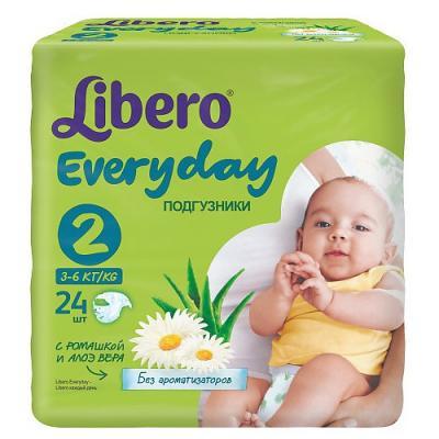 LIBERO Подгузники детские Every Day мини 3-6кг 24шт упаковка стандартная libero подгузники детские every day экстра лардж 11 25кг 16шт упаковка стандартная