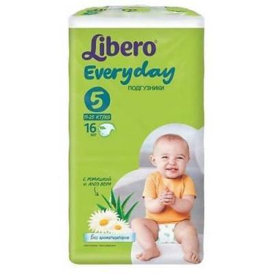 LIBERO Подгузники детские Every Day экстра лардж 11-25кг 16шт упаковка стандартная every набор чехлов для дивана every цвет бордовый