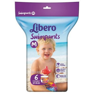 LIBERO Подгузники-трусики для плавания 10-16кг 6шт трусики подгузники libero dry pants 6 13 20 кг 46 шт
