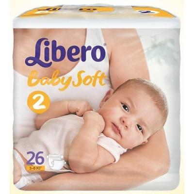LIBERO Подгузники детские Ньюборн мини 3-6кг 26шт упаковка маленькая libero подгузники детские every day миди 4 9кг 22шт упаковка стандартная