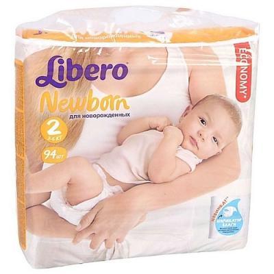 LIBERO Подгузники детские Ньюборн мини 3-6кг 94шт упаковка мега плюс libero подгузники детские every day миди 4 9кг 46шт упаковка экономичная