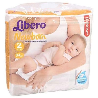LIBERO Подгузники детские Ньюборн мини 3-6кг 94шт упаковка мега плюс libero подгузники детские every day экстра лардж 11 25кг 16шт упаковка стандартная