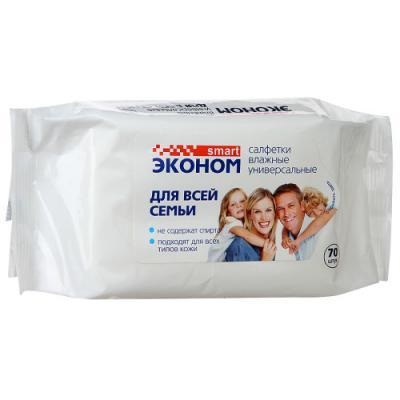 Салфетки влажные Эконом smart 30024/24 не содержит спирта 70 шт