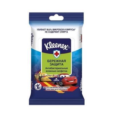 KLEENEX Салфетки влажные Антибактериальные Дисней 10шт салфетки влажные kleenex любимые герои освежающие 10 шт 1шт