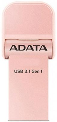 Флешка USB 32Gb A-Data i-Memory AI920 AAI920-32G-CRG розовое золото 1pcs right angle 90 degree usb 2 0 a male female adapter connecter for lap pc wholesale drop shipping