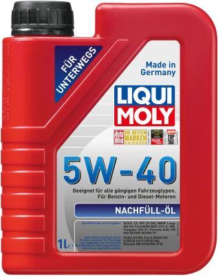 НС-синтетическое моторное масло LiquiMoly Nachfull Oil 5W40 1 л 8027 синтетическое моторное масло peak full synthetic motor oil euro 5w 40 0 946 л p4mse576