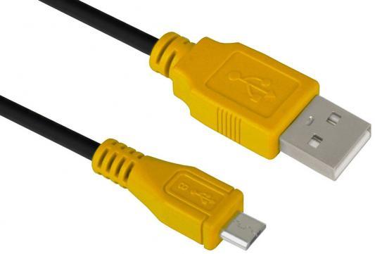 Кабель microUSB 1м Green Connection GCR-UA3MCB1-BB2S-1.0m круглый черный/желтый