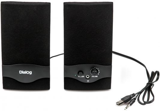 Колонки Dialog Colibri AC-22UP 2Вт USB черный