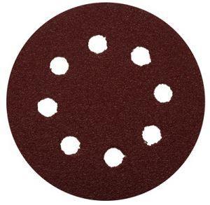 Круг шлифовальный Зубр Мастер универсальный из абразивной бумаги на велкро основе 8 отверстий Р100 125мм 5шт 35562-125-100
