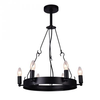 Подвесная люстра Arte Lamp Bastiglia A8811SP-6BK arte lamp подвесная люстра arte lamp bellator a8959sp 5br