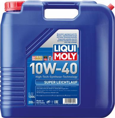 цена на НС-синтетическое моторное масло LiquiMoly Super Leichtlauf 10W40 20 л 1304
