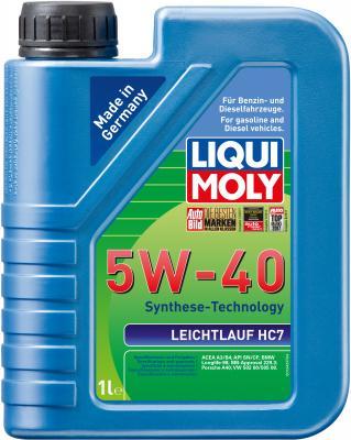 НС-синтетическое моторное масло LiquiMoly Leichtlauf HC 7 5W40 1 л 1346 моторное масло лукойл genesis armortech 5w 40 4л синтетическое
