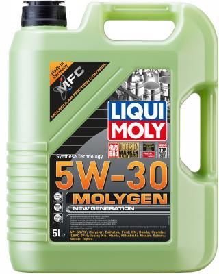 НС-синтетическое моторное масло LiquiMoly Molygen New Generation 5W30 5 л 9043