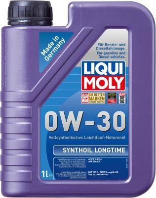 Cинтетическое моторное масло LiquiMoly Synthoil Longtime 0W30 1 л 8976 моторное масло mannol 2 takt universal api tc минеральное 1 л