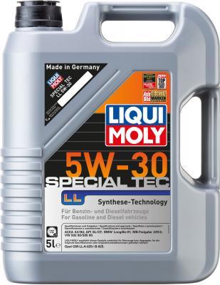 НС-синтетическое моторное масло LiquiMoly Special Tec LL 5W30 5 л 8055 моторное масло liqui moly special tec ll 5w 30 1л