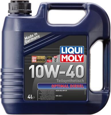 Полусинтетическое моторное масло LiquiMoly Optimal Diesel 10W40 4 л 3934 полусинтетическое моторное масло liquimoly optimal 10w40 1 л 3929