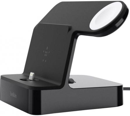Док-станция Belkin PowerHouse iPhone+Watch черный F8J200vfBLK док станция belkin f8j045btgrn для iphone 5 5s 5с зеленый